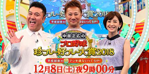 中居正広のプロ野球珍プレー好プレー大賞4